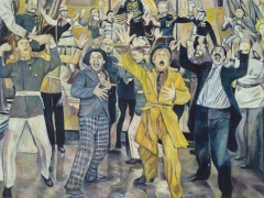 Duck Soup (We're Going to War!), 2008, oil on linen