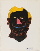 Untitled (Head Study for Awning Series), 1966, Ink and color pencil on paper