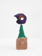 Driftloaf (Purple/ Orange), 2015, brick, wire, paint, papier-mâché, bread