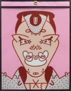 Alien Dating Service Portrait, 1977, acrylic on acetate
