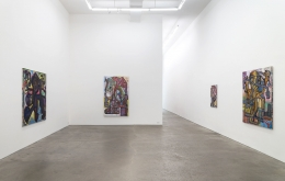 Steve DiBenedetto: Toasted with Everything, installation view at Derek Eller Gallery, New York, 2018