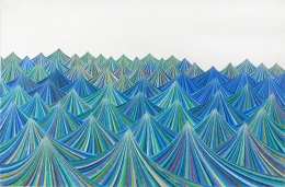 The Blue and Green Tents of Armageddon, 2007 , color pencil and graphite on paper