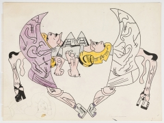 Untitled, c. 1976-1978, ink, graphite, and color pencil on paper