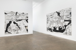 Installation view of Pieces of a Man, July 8 - August 27, 2021