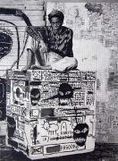 Jean-Michel Basquiat, 2003, graphite on paper