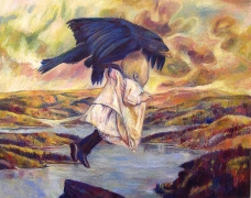 The Abduction of Ganymede (Rescued from Eagle's Nest), 2006, oil on linen