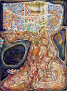 Burnt Out and Glad, 2002, color pencil on paper