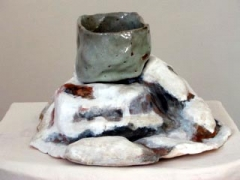 Monkey Mountain, Colorado with Cereal Bowl, 2005, glazed ceramic