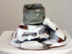 Monkey Mountain, Colorado with Cereal Bowl, 2005, glazed ceramic