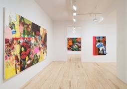 Ellen Berkenblit, Lee Maida, Tracy Miller, installation view