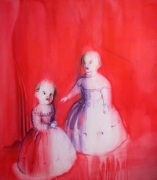 Sisters, 2004, watercolor on canvas