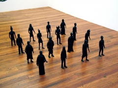 Burial Army, 2003, hydrocal, paint