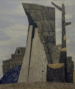 Reaper (study), 2005, acrylic, collage on canvas