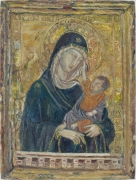 Madonna and Child (After Duccio), 2008, oil on linen