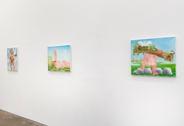 Installation view of Thoughtful Paintings, July 8 - August 27, 2021