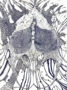 Face Head, 2003, gouache, pencil on paper
