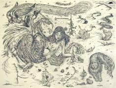 Ars Poetica (Little Hammer),2004, ink, graphite on paper