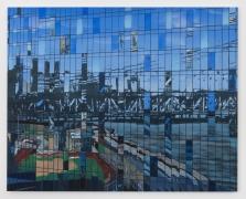 Bridge, 2020 Flashe, oil, acrylic on DiBond