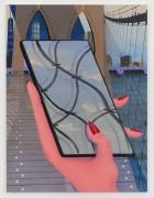 Promenade, 2020 Flashe, acrylic and oil on Dibond