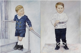 Andrew and I, 2013-14, oil on linen, diptych in two panels
