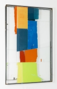 North Shore Variations,2015, glass, steel, screen print ink, block printing ink, acrylic paint, and silicone