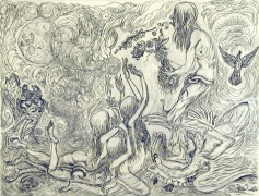 Rock Star,2004, ink, graphite on paper