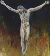 Model for the Crucifix (After Michelangelo), 2008, oil on panel