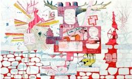 Lorenzo il Magnifico, 2007, mixed media on paper