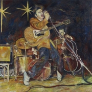 Elvis '56, 2006, oil on linen