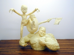 Here Comes the Knight, 2002, fiberglass, epoxy
