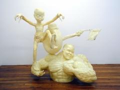 Here Comes the Knight, 2002, fiberglass, epoxy