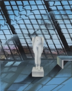 Dendur Figure,2020, Flashe, acrylic, and oil on Dibond