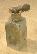 Vase on Porcelain Box (Present), 2007-2008, ceramic