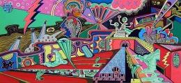 Mr. Mystery, 2003, acrylic on canvas