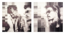 On a 2nd Reading We Recognized Ourselves, 2005, graphite on paper (in two parts)
