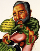 Peter Saul, Castro Wipes Ass, 1995