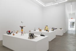 Peter Shire, A Survey of Ceramics: 1970s to the Present, installation view at Derek Eller Gallery, New York