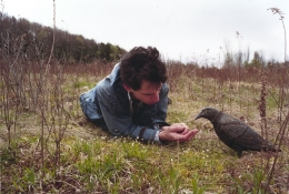 Dan with Bird, 2002, c-print