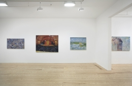 Keith Mayerson, Good Leaders, Endangered Species, Ships at Sea, Pt. II, installation view at Derek Eller Gallery, New York