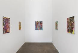 Installation view of Neon Bog
