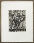 Preaching for the Oxes and theHorses, 2010, etching