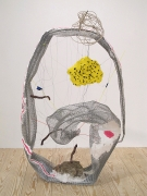 Once Upon a Time the End, 2011, metal, acrylic, paper maché, clay, thread, wire, plastacine, plastic, rocks