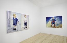 Keith Mayerson,My American Dream (Prologue), installation view at Derek Eller Gallery, New York