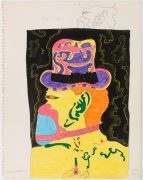 Untitled (Study for Gilateen), 1966, graphite, marker and color pencil on paper