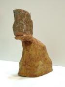Idaho Cliff with Cup, 2005, glazed ceramic
