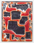 Body Scan 3,2015, resin, pigment, and painted steel frame