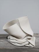 Recumbent Fold #48, 2014, unglazed porcelain