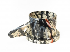 Schizzo, 2014, cone 06 clay and underglazes