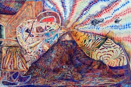 Activation, 2002, color pencil on paper