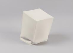 Recumbent Cube #6,, 2019, unglazed porcelain